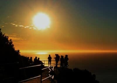 solnedgang på udveksling i sydafrika